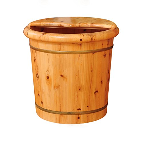DGF Foot tub, solid wood acupuncture and high massage foot basin (L41cm H40cm) Wood Bucket Bath