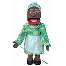 Granny African-American Kids Full Body Puppets Toys, 25 in.