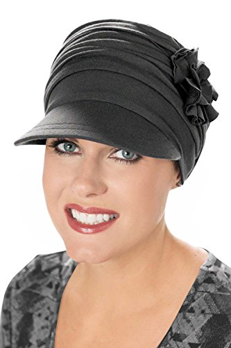 - Bamboo Florette Newsboy-Caps for Women with Chemo Cancer Hair Loss Luxury Bamboo - Charcoal