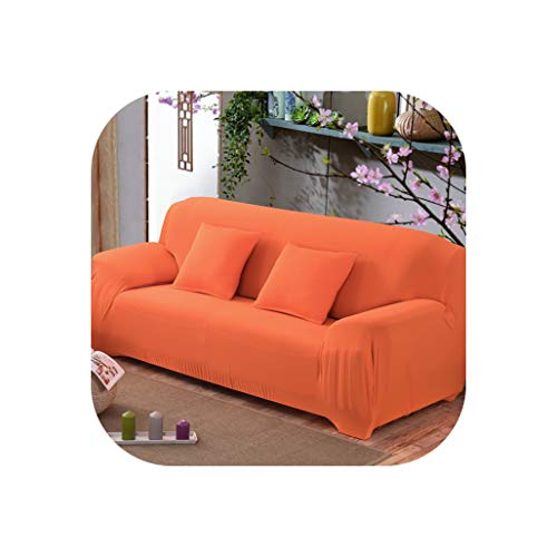 17 Colors for Choice Solid Color Sofa Cover Stretch Seat Couch Covers Couch Cover Loveseat Funiture All Warp Towel Slipcovers,Orange,Ab 90-140Cm