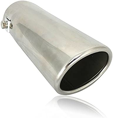 Sports Road 40mm-70mm Chrome Plated Steel Straight Exhaust Tail Pipe Kit Car Van