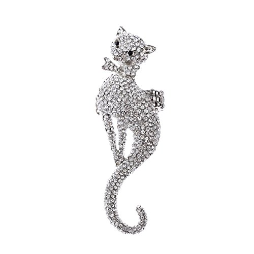 Costumes Jewellery Cocktail Rings (Alloy Silver Plated Fox Ring Statement Rhinestone Cocktail Stretch Costume Jewelry)
