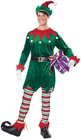 California Costumes Christmas Elf Adult, Green/Red, Small/Medium