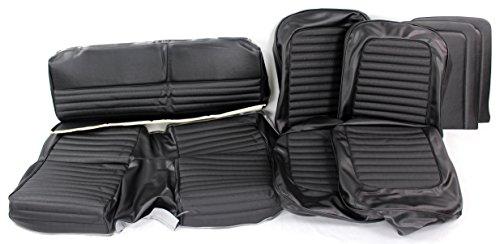 TMI 43-72226-958-2949 Mustang Black Vinyl Full Set Upholstery (2+2 Fastback)