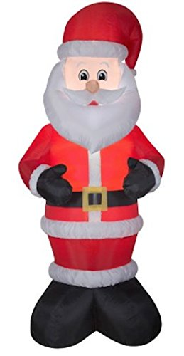 Airblown Inflatable Santa Claus in Santa Suit and Santa Hat by Gemmy / Outdoor Decorations / 10 Foot Santa Claus Decoration