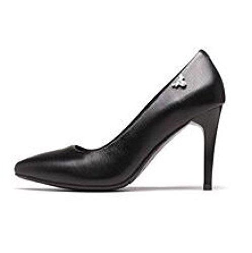 Moda Black da Party Nero 36 Nightclub Tacchi 8cm Lavoro Scarpe Alti UK 4 8 Scarpe Corte in Sposa Donna Pelle EU Sexy AqZxwt8wS