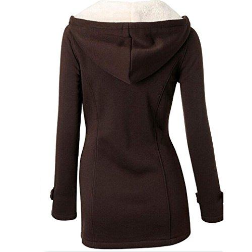 De Chaqueta La La La Las Larga De Delgada Lanas Outwear De Outwear Overcoat Capa Rompevientos Tirilla De Chaqueta Calientes Jacket Café IMJONO La Mujeres wIqO6cF