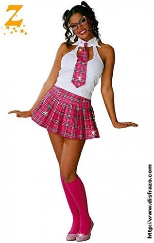 Disfraz Colegiala Rosa: Amazon.es: Juguetes y juegos