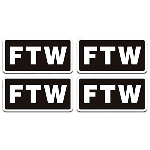 "1080GPHX FTW Decal 4 PACK 3""x1.5"" F the World Biker Helmet H"