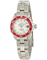 Invicta Womens 12521 Pro Diver Silver Dial Stainless Steel Watch