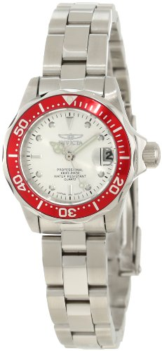 Invicta Women's 12521 Pro Diver Silver Dial Stainless Steel Watch