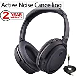 Best Headphones For Airplanes - Avantree Active Noise Cancelling Bluetooth 4.1 Headphones Mic Review