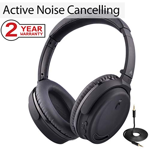 Avantree Active Noise Cancelling Bluetooth 4.1 Headphones Mi