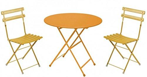 Balkonmöbel Set 3-Teilig, EMU, Rund, Orange, Klein