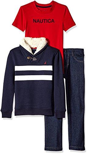 Nautica Fleece Sherpa Collar Jacket
