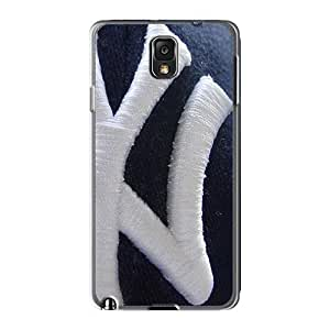 Durable Hard Phone Case For Samsung Galaxy Note 3 With Custom Trendy Ny Yankees Skin