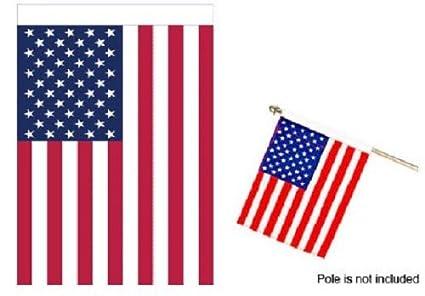 amazon com made in usa american flag banner 30x48 inch nylon