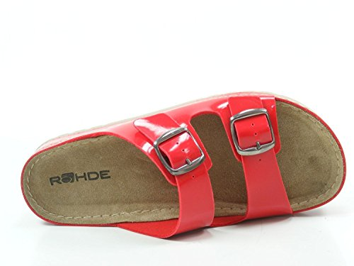 Mules 5802 5802 femme femme Rohde Rohde Mules Rouge Rouge YpwpCqFPx