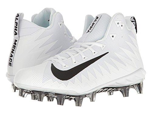 Nike Alpha Menace Pro Mid Mens Football Cleats (10.5 D(M) US) White/Black