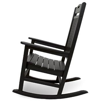 Trex Outdoor Furniture Yacht Club Rocker Chair, Charcoal Black