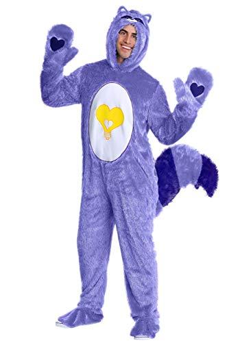 Care Bears & Cousins Adult Bright Heart Raccoon Costume Large Purple