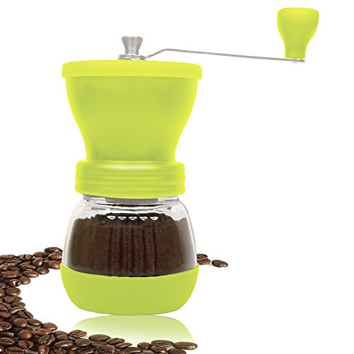 Coffee Grinder - Manual, High Quality Burr Coffee Grinder - Coffee Maker With Grinder For Espresso - Roasted Coffee Bean Grinder - Burr Grinder Coffee Mill - Best Manual Coffee Grinder Period! (Coffee Mill Kyocera compare prices)
