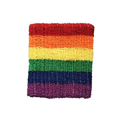 Asciugamano Sportivo in Cotone Arcobaleno Assorbente per Il Sudore Asciugamano da Basket Pallone da Badminton Designer da Polso Logo Personalizzato Regali di Protezione Colorato
