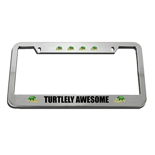 (Speedy Pros Turtlely Awesome Turtle License Plate Frame Tag Holder)
