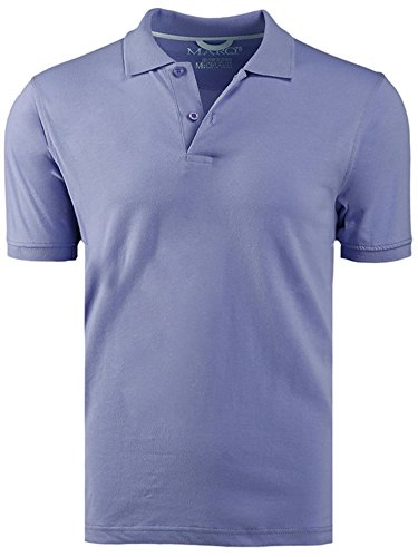 Marquis Periwinkle Slim Fit Jersey Polo Shirt - Ultra Soft Fabric