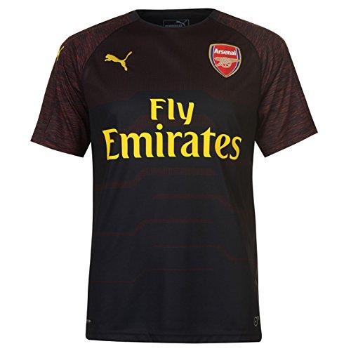 PUMA 2018-2019 Arsenal Home SS Goalkeeper Football Soccer T-Shirt Jersey (Black)