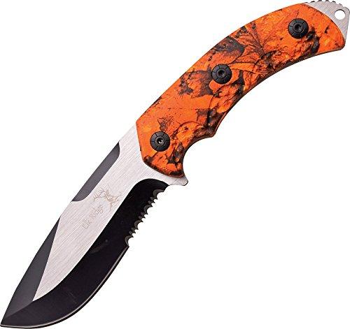 Elk Ridge 4.25 Blade-Orange Camo Handle Fixed Blade Knife