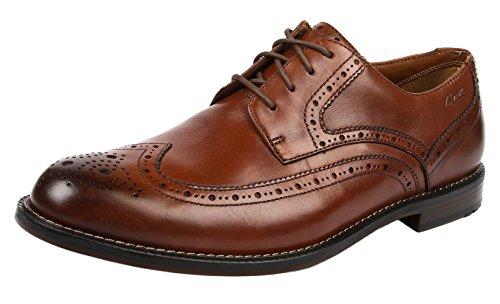Clarks Dorset Limit Herren Derby Schnürhalbschuhe Braun (Brown Leather)