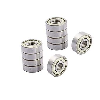 10 6900 Series Rodamientos de bolas de acero al carbono con ranura profunda blindada de goma