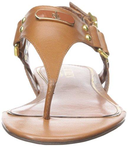 Tan à Lauren Ralph talons Vachetta Lauren US Sandale 10 brunie pour Polo Tan femmes B Valinda wTzft
