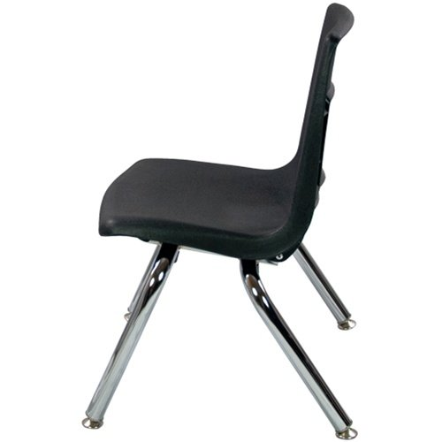 12'' Black Stackable School Chair (4 pack)