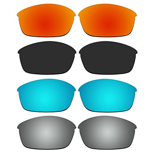 4 Pair Replacement Polarized Lenses for Oakley Flak Jacket Sunglasses Pack - Oakley 03 881