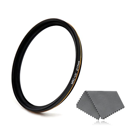 Lenskins 77mm MRC UV Protective Filter, German Optics, Weather-Sealed, 16-Layer Multi-Resistant Nano Coated HD Clear Glass Ultra Violet Filter, Ultra Slim Camera Lens Protector with Lens Cloth by LENSKINS