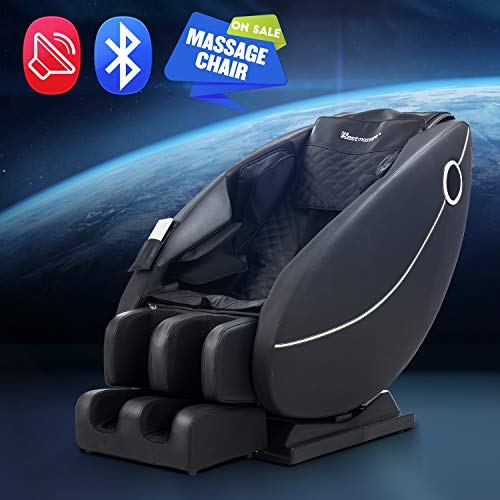 BestMassage Zero Gravity Full Body Electric Shiatsu Massage Chair Recliner with Built-in Heat Foot Roller Air Massage System LSS-Track Stretch Vibrating Audio for Home Office, Black from BestMassage