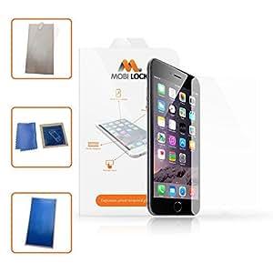 Protector de pantalla Mobi Lock Premium de Vidrio Templado y Anti-Huellas / Arañazos para Apple iPhone 6 y 6S Modelos