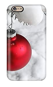 Fashion Tpu Case For Iphone 6- Christmas Ball Snow Defender Case Cover 9174231K96547625