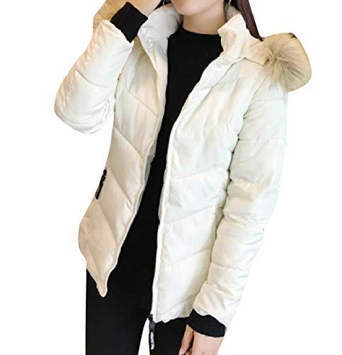 Fur Thicken Hood Faux Coat White Warm Classic with Brumal EnergyWomen Jacket x6fqBFwf