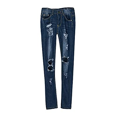 F_Gotal Jeans, Womens High Waisted Skinny Denim Stretch Slim Length Jeans High Waisted Destroyed Denim Pants Pencil Pant at  Women's Jeans store
