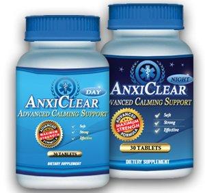 AnxiClear: soulagement rapide pour le stress et l'anxiété (2 bouteilles 1 jour + 1 nuit)