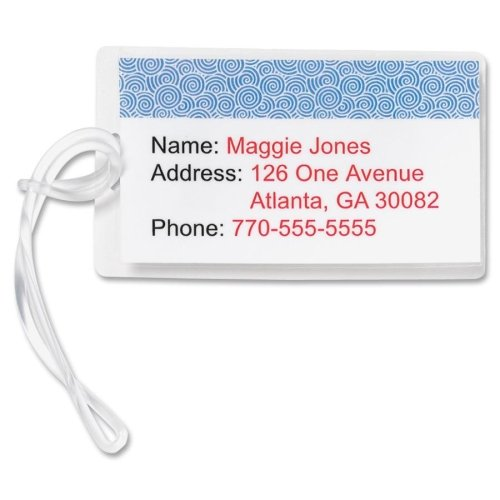 Wholesale CASE of 15 - Bus. Source Luggage Tag Plastic Strap-Plastic Luggage Straps, 5'', 100/BX, Clear by BSN
