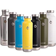LAMOSE Moraine Insulate Water Bottle | Stainless Steel Sports Water Bottle With BPA Free Steel Lid, No Plastic and Dishwasher Safe, Gift Packaging Included.