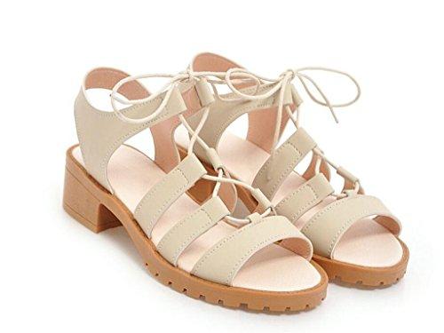 Sandales Confortables 4cm été Bretelles Sandales 33 Romaines 41 Femme antidérapantes croisées xie SqxdzRR