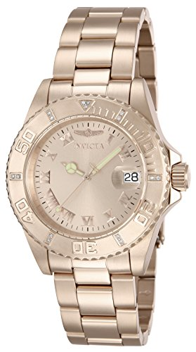 Invicta Men's 12821 Pro Diver Rose Dial Diamond Accented Watch