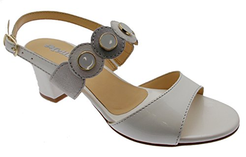 Donna Grigio Medaglia Art Bianco Aperto Sandalo 37 K95326 Ghiaccio dS4xZd6