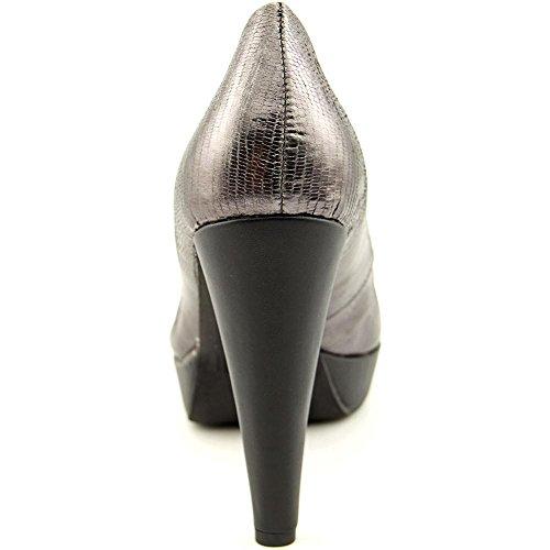 Bar III Womens Gina Leather Round Toe Classic Pumps Gunmetal 1QRGVxgq