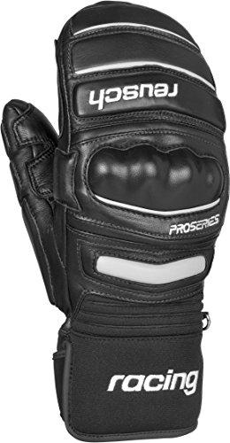 Reusch Racing Gloves - Reusch Snowsports World Champ Ski Mittens, Black/White, X-Small